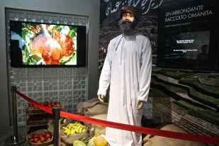 Oman: interno del padiglione espositivo