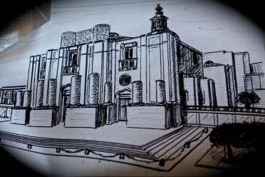 Schizzo a china Chiesa S.Nicola - Catania