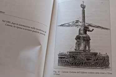 Schizzo a china del simbolo di Catania