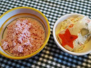 100 g di cotto ed una scodella di insalata russa